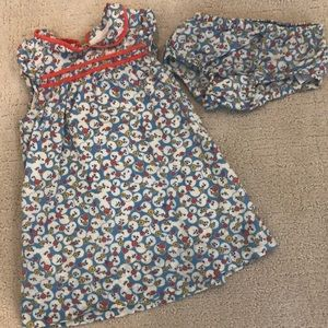 Baby Boden Dress and Bloomers 6-12 months